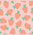 strawberry pattern seamless background vector image vector image