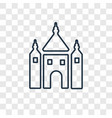synagogue concept linear icon isolated on vector image