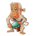 the drummer monkey vector image vector image