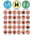 travel and tourism icon set vector image vector image