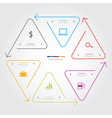 Triangle arrow line infographic on white vector image vector image