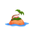 tropical island and hammock on palm trees vector image