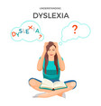 understanding dyslexia known as mental disorder vector image vector image