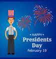 usa presidents day greeting card or banner vector image vector image