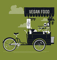 Vegan Food Cart vector image vector image