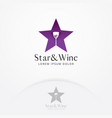 wine bar logo template vector image vector image