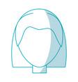 woman faceless head vector image vector image