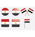 badges with flag of Egypt vector image