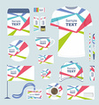 Stationery template design vector image