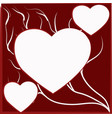 hearts and curls vector image