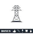 Power line icon flat vector image