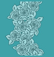 vintage seamless pattern with garden roses on vector image