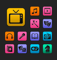 Entertainment icon set gummy theme vector | Price: 1 Credit (USD $1)