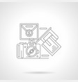 a sports photographing detailed line icon vector image