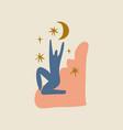 abstract human art healing meditation energy vector image