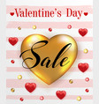 background for valentines day sale vector image
