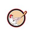 Baseball Player Batting Circle Cartoon vector image vector image