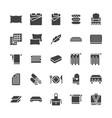 bedding flat glyph icons orthopedics mattresses vector image vector image