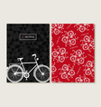 Bike concept retro set pattern poster bicycle vector image vector image