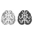 brain composition of service tools vector image