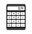 Calculator icon in simple style vector image vector image