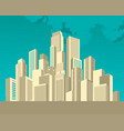 city landscape on the sky background vector image vector image