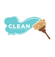 cleaning services logotype with water and brush vector image vector image
