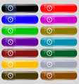 clock icon sign Set from fourteen multi-colored vector image vector image