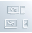 computers icons vector image