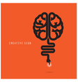 Creative brain concept design for poster vector image vector image