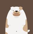 cute big fat Bulldog vector image vector image