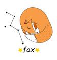 cute cartoon style hand drawn fox vector image vector image
