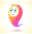 Cute little pink monster character vector image vector image