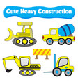 cute of a truck for heavy construction flat vector image