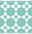 decorative arabian pattern green seamless arabic vector image vector image