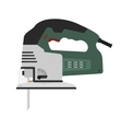 Electric green color carpentry jig saw tool vector image vector image