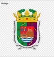 emblem of malaga city of spain vector image vector image