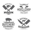 emblems set butchery vector image vector image