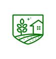farm house logo template vector image vector image