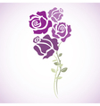 four red roses - sketch vector image vector image