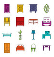 furniture icons doodle set vector image vector image