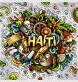 haiti hand drawn cartoon doodles vector image vector image