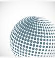 halftone sphere design element vector image vector image