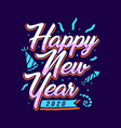 happy new year 2020 lettering art 2 vector image vector image