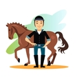 Jockey Design Concept Set vector image vector image