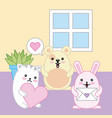kawaii animal cartoon vector image vector image