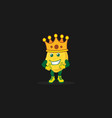 king smile potato vector image vector image