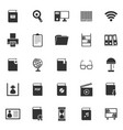 library icons on white background vector image vector image