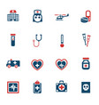 medicine icon set vector image