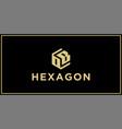 ob hexagon logo design inspiration vector image vector image